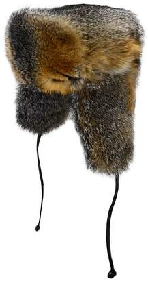 Crown Cap Grey Fox Fur Hat