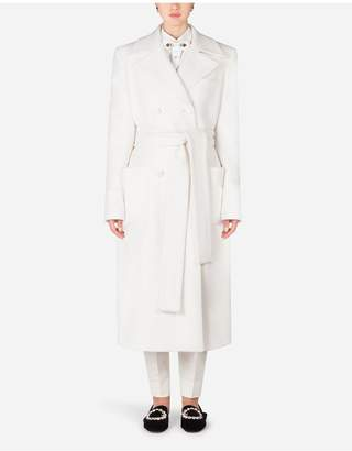 Dolce & Gabbana Double-Breasted Woolen Belted Coat