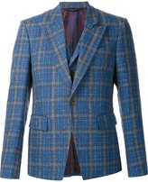 Vivienne Westwood grid print vest detail blazer - men - Cotton/Acetate/Viscose/Wool - 48