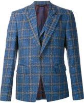 Vivienne Westwood grid print vest detail blazer