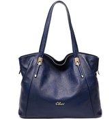 Cluci Leather Handbags Designer Tote Satchel Shoulder Bag Purse for Women Wine Red
