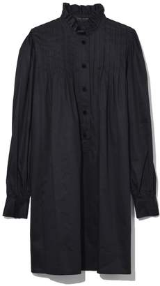 Marc Jacobs Long Sleeve Dress with Ruffle Collar in Black