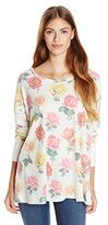 Wildfox Couture Women's Effortless T Bright Rose Long Sleeve Tee