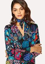Paul Smith Women's Black 'Enso Floral' Print V-Neck Dress