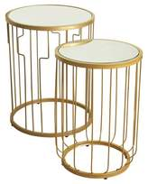 HomePop Nesting Tables Gold Mirrored
