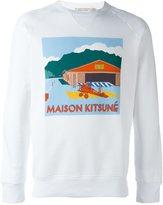 MAISON KITSUNÉ hangar print sweater