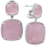 Effy Serenity by Rose Quartz Drop Earrings (27-9/10 ct. t.w.) in Sterling Silver