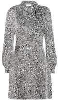 Saint Laurent Leopard-print silk dress