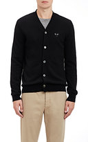 Comme des Garcons Men's Heart Patch V-Neck Cardigan