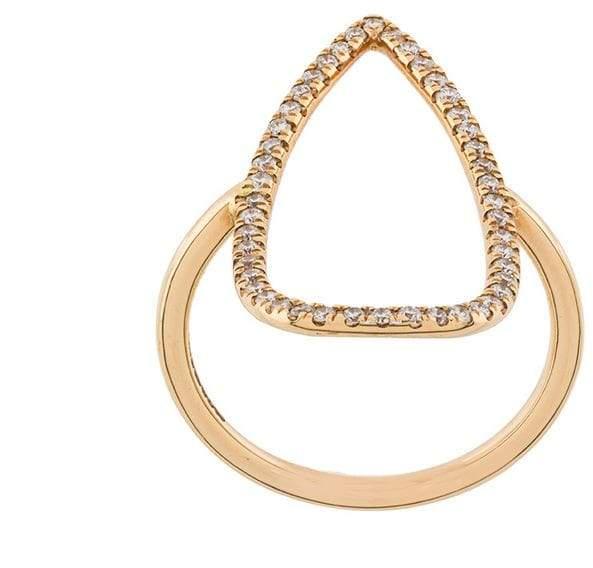Diane Kordas pear outline ring
