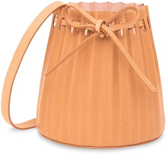 Mansur Gavriel Mini Pleated Bucket Bag - Cammello