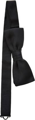 Prada Pre-Knotted Silk-Satin Bow Tie