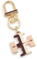 Tory Burch Striped Resin Logo Key Fob