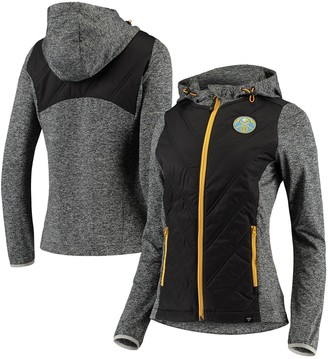 Women's Fanatics Branded Charcoal Denver Nuggets Static Full-Zip Jacket