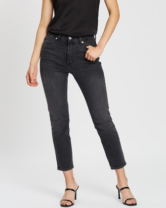 Mng Women's Black Crop - Gisele Jeans - Size 34 at The Iconic
