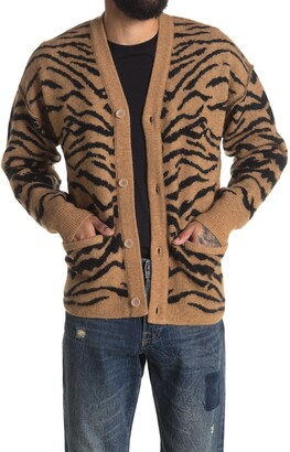 Ovadia And Sons Moses Tiger Stripe Pocket Cardigan