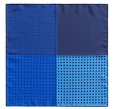 Lanvin Dot print colourblock silk twill pocket square