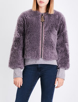 MiH Jeans Purdy cropped shearling jacket