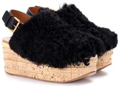 Chloé Camille platform shearling sandals