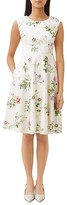 Hobbs London Botanical Printed A-Line Dress