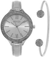 So&Co Women&s SoHo Crystal Watch & Bracelet Set