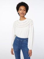Frame Silk Twisted Pleat Top
