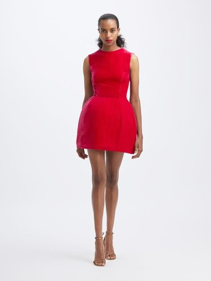 Oscar de la Renta Mini Velvet Cocktail Dress