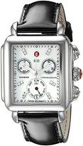 Michele Women's MWW06P000022 Deco Analog Display Swiss Quartz Black Patent Leather Watch
