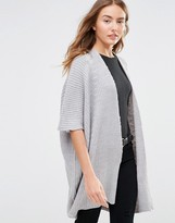 Brave Soul Ribbed Short Sleeve Cardigan
