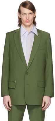 Tibi SSENSE Exclusive Green Eamon Long Blazer