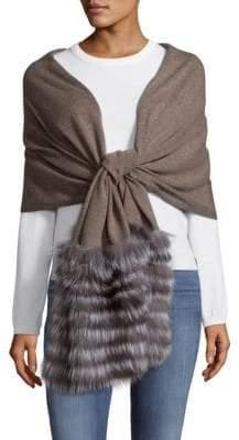 La Fiorentina Fox Fur-Trimmed Wool & Cashmere Scarf