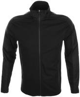 Michael Kors Nylon Trim Full Zip Sweatshirt Black