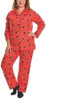 Angelina Giftable Red Scottie Flannel Pajama Set - Plus Too