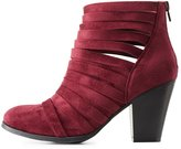 Charlotte Russe Strappy Chunky Heel Ankle Booties