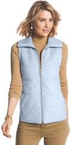 Chico's Quilted Rib Knit Vest