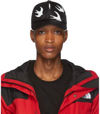 McQ Black and White Swallow Baseball Cap