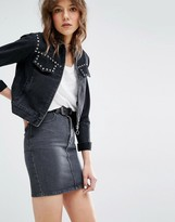 MANGO Western Studded Denim Jacket