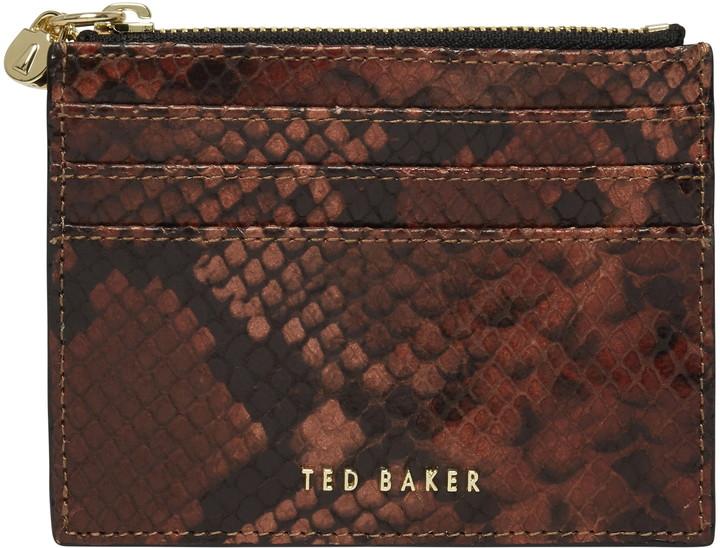 Ted Baker Emilioo Snakeskin Print Leather Card Wallet