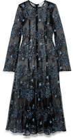 Georgia Alice - Debutante Embroidered Pleated Mesh Dress - Black