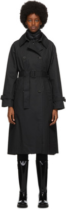 Moncler Black Ebihens Trench Coat