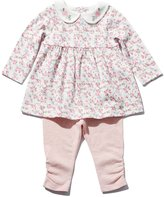 M&Co Floral print smock top and leggings set