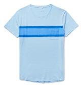 Orlebar Brown Harry Slim-fit Striped Slub Cotton-jersey T-shirt - Sky blue