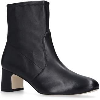 Stuart Weitzman Leather Niki Ankle Boots 60