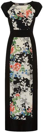 Dorothy Perkins Black oriental tee maxi dress