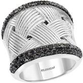 Effy Sterling Silver Black Diamond Ring - Size 7 - 1.23 ctw