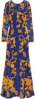 Oscar de la Renta Embroidered cotton-blend guipure lace gown