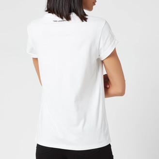 Karl Lagerfeld Paris Women's Ikonic Pocket T-Shirt