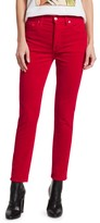 RE/DONE High-Rise Velvet Ankle Crop Skinny