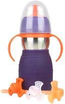 Kid Basix The Safe Sippy 2 Sippy + Straw Bottle - Purple - 11 oz