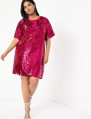 ELOQUII Sequin Shift Dress